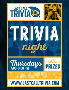 THURSDAY TRIVIA NIGHTS!