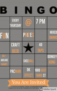 Bingo Every Thursday at 7 PM